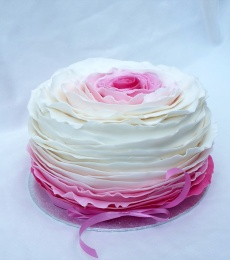 ruffle cake
