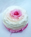 pink ombre ruffle cakes